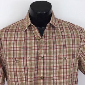 Pendleton Santiam button up shirt brown red M